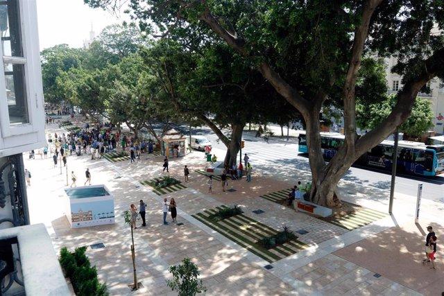 Espacios de la Alameda principal para la reapertura al tránsito peatonal antes de la Feria