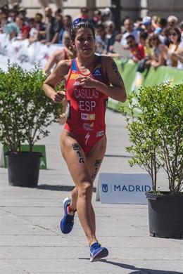 Miriam Casillas Garcia (Spain) during the 2019 Madrid ITU Triathlon World Cup, qualifier for the olympic games on May 5, 2019 in Madrid, Spain - Photo Arturo Baldasano / DPPI