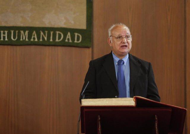 Toma de posesión de Antonio Checa como miembro del Consejo Audiovisual, celebrada en el Parlamento de Andalucía.
