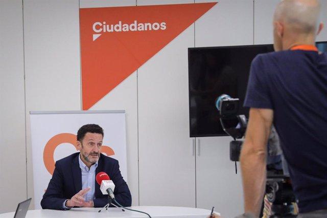 El portavoz adjunto de Ciudadanos en el Congreso, Edmundo Bal, durante una entrevista para Europa Press.