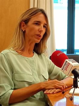 Cayetana Álvarez de Toledo, portaveu del PP al Congrés, en una entrevista amb Europa Press
