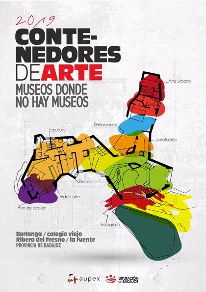 Aupex abre la convocatoria de participación para los Contenedores de arte 2019 de la provincia de Badajoz
