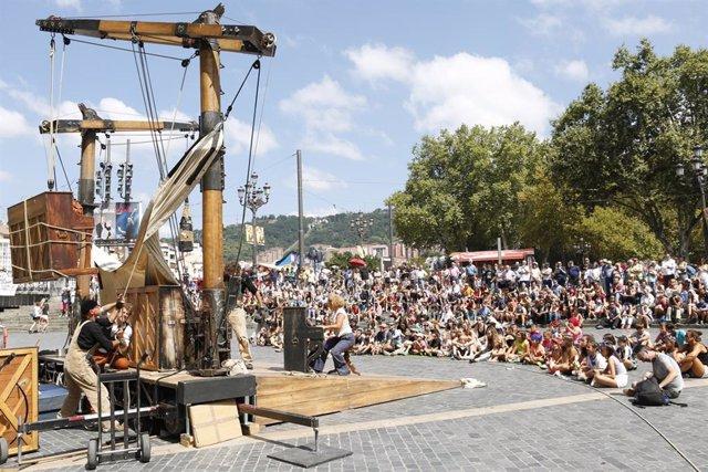 Imagen de una actividad festiva en la Aste Nagusia bilbaína.
