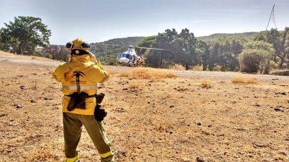 Declarado un incendio forestal en Vejer de la Frontera (Cádiz)