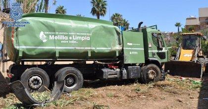 """Detenido un ex trabajador del servicio de limpieza en Melilla como presunto robo de un camión """"por venganza"""""""