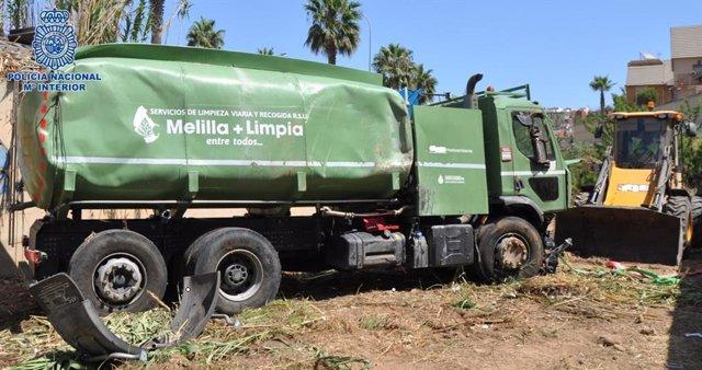 Imagen del camión cisterna sutraído