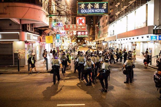 Desplegament policial a Hong Kong