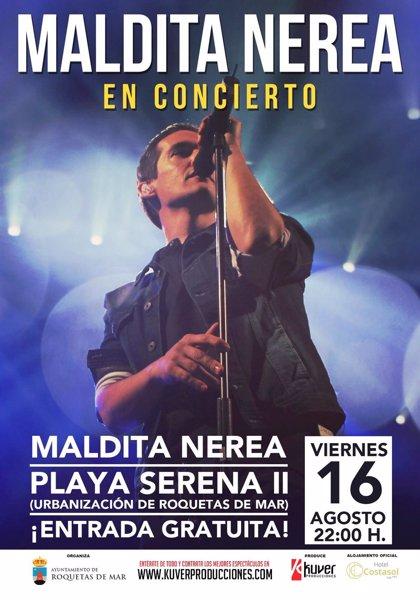 Maldita Nerea cierra este viernes el ciclo de conciertos gratuitos de 'A Pie de Calle' en Roquetas de Mar (Almería)