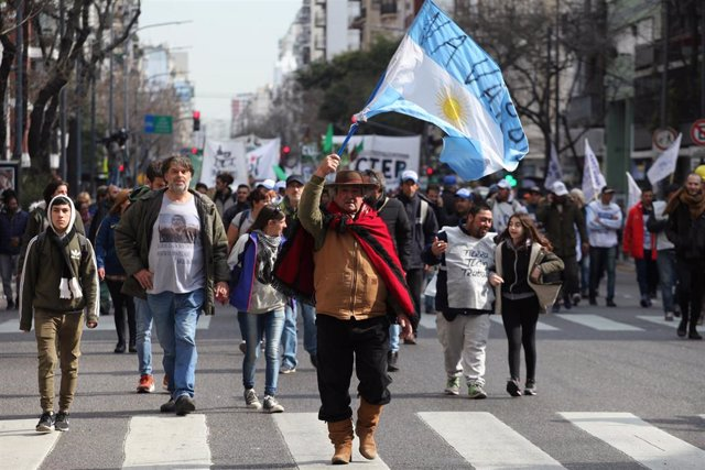 Protesta antigubernamental en Buenos Aires