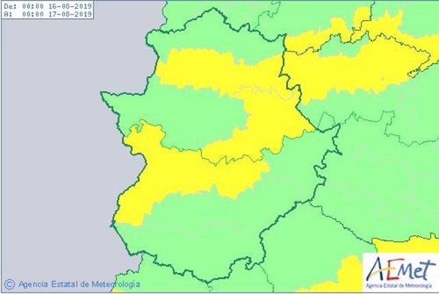 Avisos por altas temperaturas en Extremadura