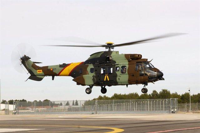 Helicóptero AS532 AL Cougar del Ejército de Tierra