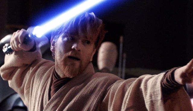 Imagen de Ewan McGregor como Obi Wan, su mítico personaje en Star Wars