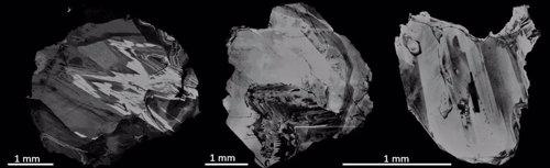 Imágenes de diamantes utilizados en el estudio