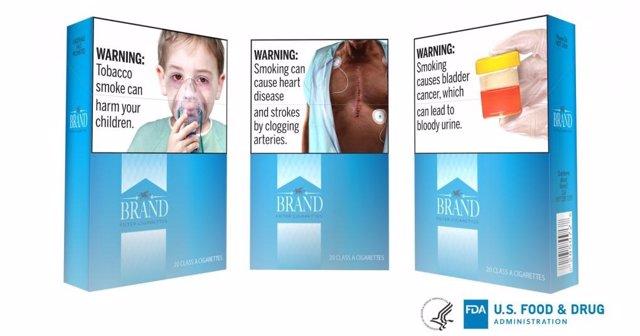 Las nuevas advertencias en los cigarrillos de Estados Unidos propuestas por la FDA