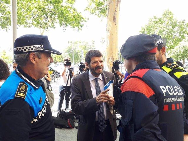 El teniente de alcalde de Prevención y Seguridad de Barcelona, Albert Batlle
