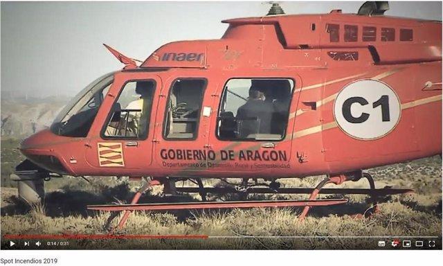 Helicóptero de extinción de incendios