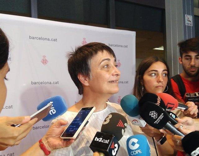 La concejal de Movilidad de Barcelona, Rosa Alarcón