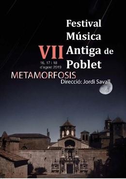 Cartell de la VII edició del Festivial Música Antiga de Poblet