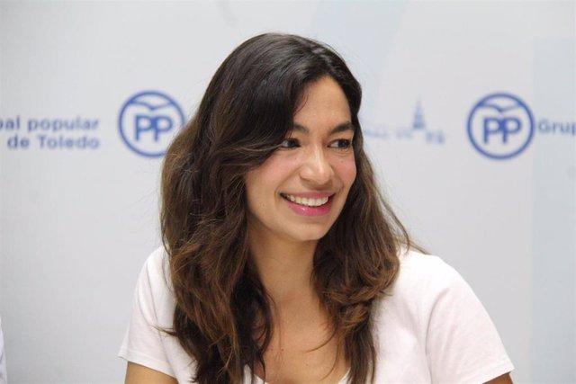 La portavoz del PP en el Ayuntamiento de Toledo, Claudia Alonso