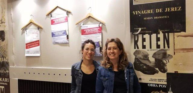 Sandra Aguerri, profesora de la Escuela Navarra de Teatro; y Fuensanta Onrubia, directora académica