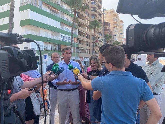 Antonio González Terol atiende a los medios en una imagen de archivo