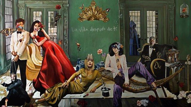 Obra de Roberta Lobeira inspirada en La casa de Papel