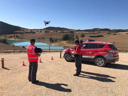 Los drones de la Policía Foral volverán a vigilar el embalse de Alloz durante el fin de semana