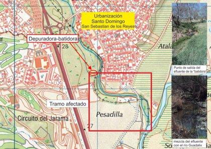 Organizaciones ecologistas reclaman poner fin a los vertidos de aguas fecales al río Guadalix