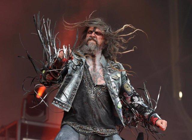 "13 June 2019, Austria, Nickelsdorf: American singer 'Rob Zombie' performs on the ""Red Stage"" during the ""Nova Rock 2019"" festival. Photo: Herbert P. Oczeret/APA/dpa"