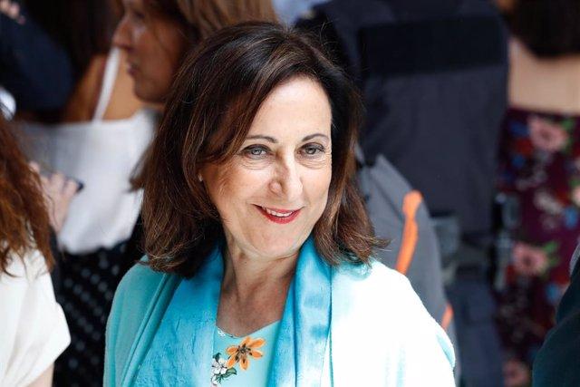 La ministra de Defensa, Margarita Robles, a la sortida de la sessió de la primera investidura fallida del candidat socialista a la Presidència del Govern.