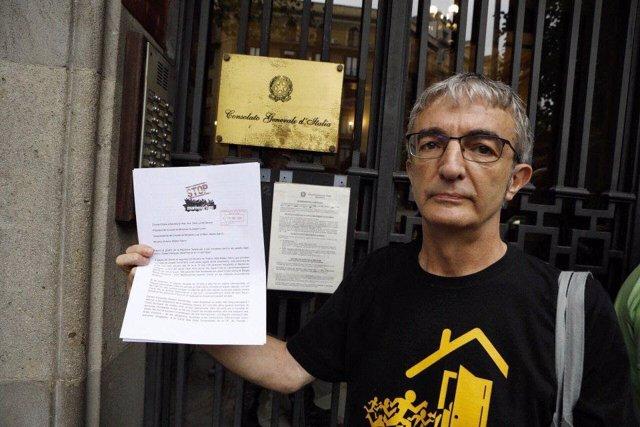 Lliura carta al Consolat General d'Itàlia de Barcelona