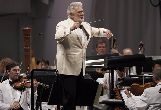 September 13, 2013 - Los Angeles, California, United States: Placido Domingo conducts music from Spain with the Los Angeles Philharmonic Orchestra at the Hollywood Bowl on Thursday night, Sept. 13, 2018. On August 13, 2019 it was reported that at least