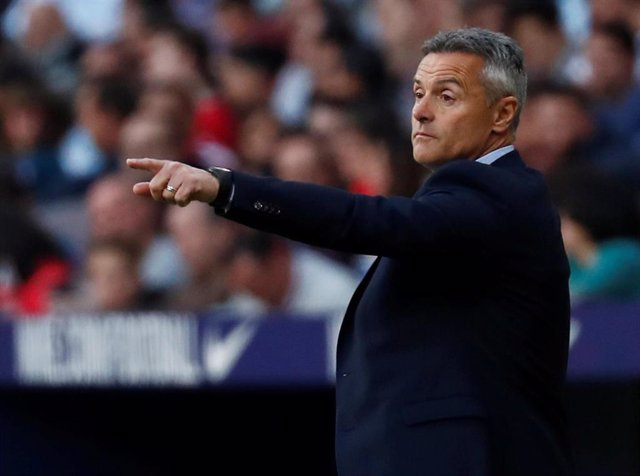 El entrenador del RC Celta de Vigo, Fran Escribá.