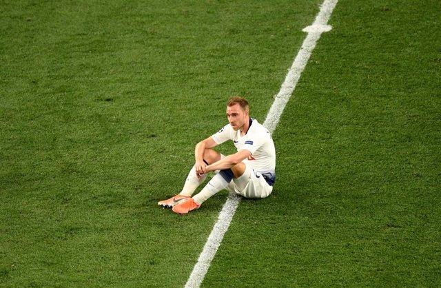 Christian Eriksen, durante un partido con el Tottenham.
