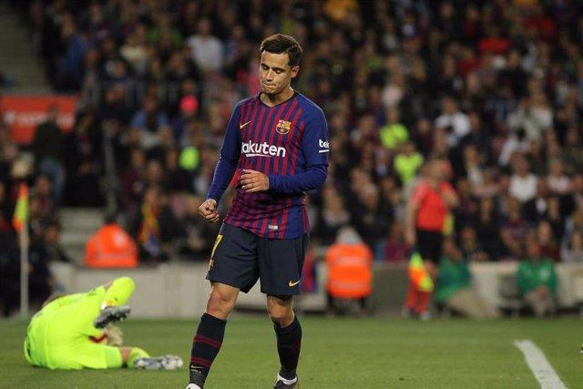Coutinho con el Barcelona