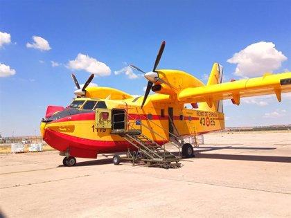 El avión anfibio que España envió a Grecia para luchar contra el incendio en la isla de Eueba regresa este sábado
