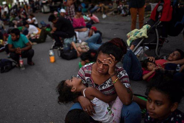 Migrantes centroamericanos en México rumbo a Estados Unidos