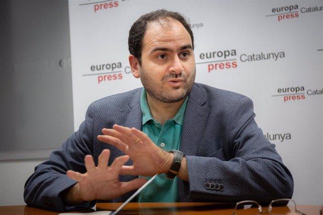 El presidente de Societat Civil Catalana (SCC), Fernando Sánchez Costa, durante una entrevista para Europa Press