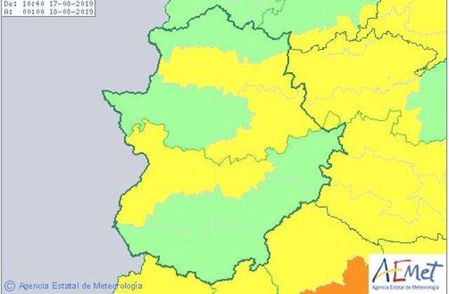 Avisos por calor este sábado en Extremadura