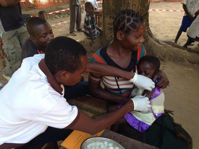 Brote de sarampión en República Democrática del Congo