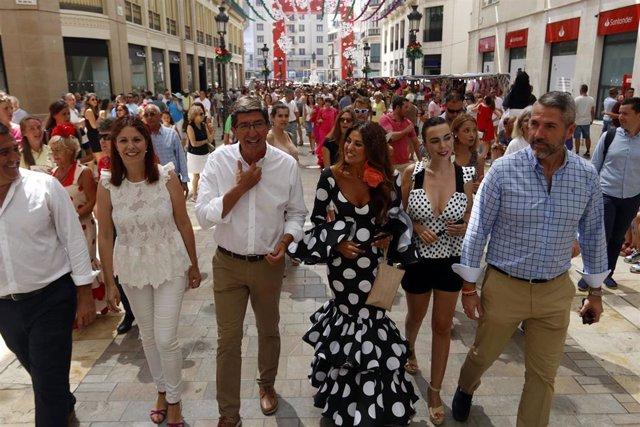 El vicepresidente de la Junta y consejero de Turismo, Regeneración, Justicia y Administración Local, Juan Marín, visita la Feria de Málaga