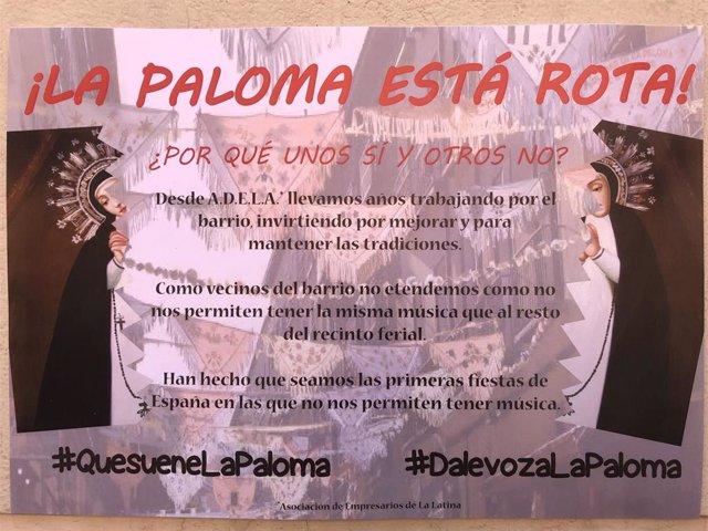 El Ayuntamiento de Madrid no ha respondido a los locales que no han podido poner música durante las Fiestas de la Paloma.