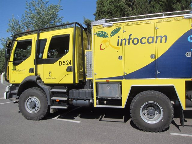 Infocam, vehículo, puesto, camiones, incendio