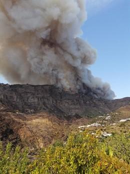 Incendio en Valleseco (Gran Canaria)