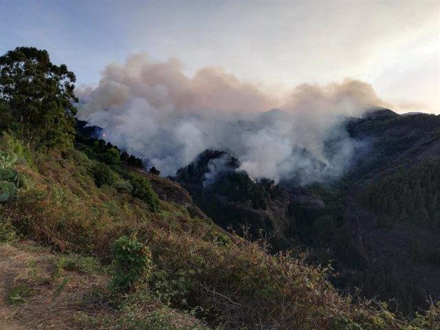 Incendio de Valleseco en la isla de Gran Canaria