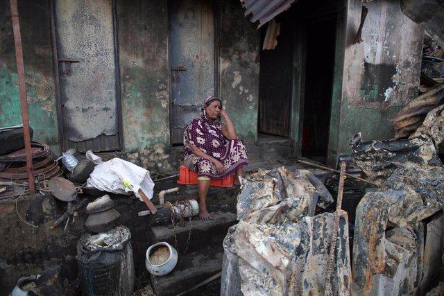 Incendio en barriada de Dacca (Bangladesh)