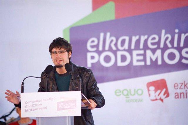 Lander Martínez, secretario general de Podemos Euskadi