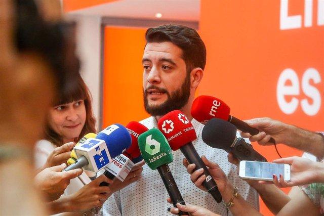 Imagen de archivo del 'número dos' de Ciudadanos en la Comunidad de Madrid, César Zafra.