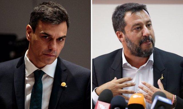 Pedro Sánchez y Matteo Salvini