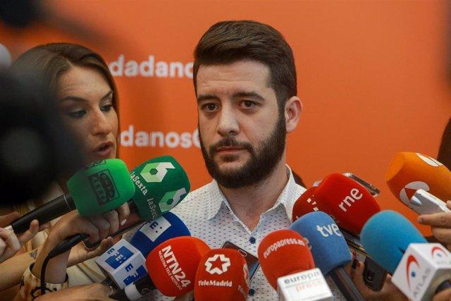 Imagen de archivo del secretario de Organización de Ciudadanos Madrid, César Zafra.